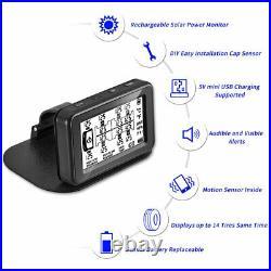 10 Sensors TPMS Tire Pressure Monitoring System for RV/Motor home/Caravan/Trucks