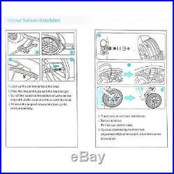 16 Pin Wireless OBD TPMS Car Tire Pressure Monitor System 4 Internal Sensor T8A8