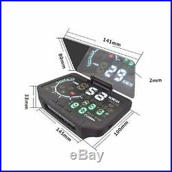 3 IN 1 HUD&TPMS Head Up Display Tire Pressure Monitoring Sensor OBD2 Thermometer