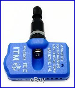 4 433mhz TPMS Tire Pressure Sensors Dodge Challenger Matte Black Valve Stems