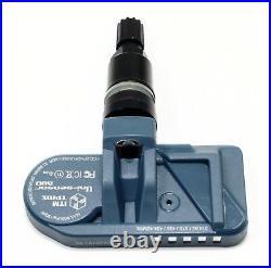 4 Land Range Rover Discovery TPMS Tire Pressure Sensors Gloss Black Valve Stems