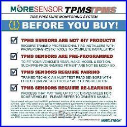 4-Pack 433MHz TPMS Tire Pressure Sensor Jeep Compass Renegade Grand Cherokee