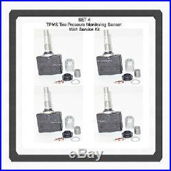4 TPMS Tire Pressure Monitoring Sensor W /Service Kit 1AA0D FitsNissan Infiniti