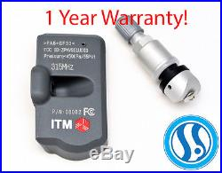 4 TPMS Tire Pressure Monitoring Sensors 315mhz Mitsubishi Lancer 2008-2015
