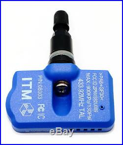 4 TPMS Tire Pressure Sensor 433mhz BMW E90 E92 F30 F32 Matte Black Valve Stem