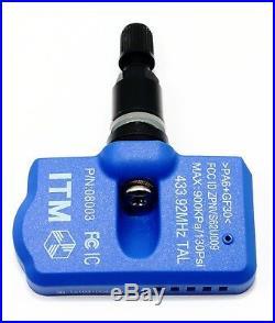 4 TPMS Tire Pressure Sensors Dodge Ram 1500 Promaster Matte Black Valve Stems