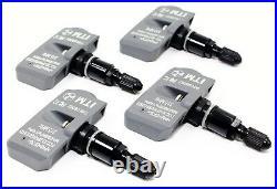 4 TPMS Tire Pressure Sensors Jaguar F Pace F Type E Pace Gloss Black Valve Stems