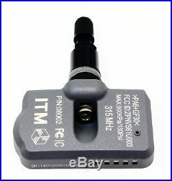 4 TPMS Tire Pressure Sensors Mercedes Benz Gloss Black Aluminum Valve Stems