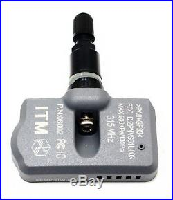 4 TPMS Tire Pressure Sensors Mercedes Benz Matte Black Aluminum Valve Stems