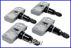 4 TPMS Tire Pressure Sensors Toyota Tacoma 315mhz Gloss Black Metal Valve Stems