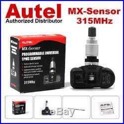 4 x Autel MX-Sensor 315MHz Universal Programmable TPMS Sensor for Tire Pressure