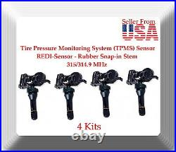 4 x VDO Tire Pressure Monitoring System (TPMS) REDI-Sensor Rubber Snap-in Stem
