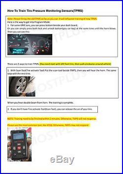 4PCS TPMS Tire Pressure Monitoring Sensor For Buick Enclave Lucerne Lacrosse
