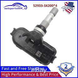 4PCS TPMS Tire Pressure Sensor for Hyundai Elantra Tucson Kia Rio 52933-3X200 US