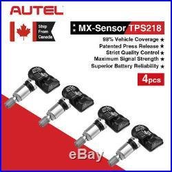 4Pcs Autel MX-Sensor 315&433MHz Car Tire Pressure Monitor Sensor TPMS Tool Metal