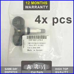 4X TPMS Tyre Pressure Valve Sensor For AUDI A4 A6 A8 Q7 R8 VW PHAETON TOUAREG