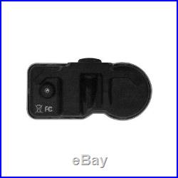 4x 433 Mhz TPMS Tire Pressure Sensors with Silver Metal Clamp-In Valve E734923