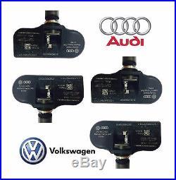 4x NEW Volkswagen Audi (TPMS) Tire Pressure Monitoring Sensor 315 MHz