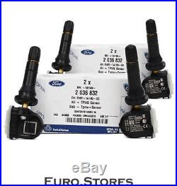 4x ORIGINAL Ford TPMS Tire Pressure Sensor B-Max C-Max III Focus III Kuga II