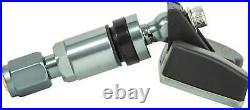 4x TPMS tire pressure sensors metal valve Darkgrey for Alpina BMW MINI Rolls Roy