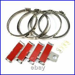 4x Tire Pressure Sensor Band Straps Barrel-Banded TPMS for Ford Chevy Dodge Etc