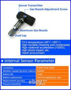 6 Internal Sensors Solar Wireless TPMS Car Tire Tyre Pressure Monitoring System