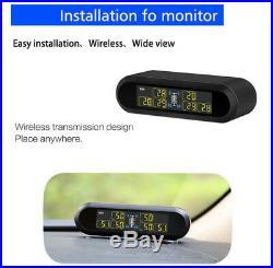 6 Sensor Set for RV Pickup Trailer Van Tire Pressure Monitor Solar LCD TPMS