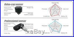 6 TPMS Tyre Pressure Monitoring System Caravan Truck Wireless RV Sensor LCD 4WD