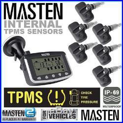 6 Tyre Pressure Monitoring System Car 4wd External Sensor TPMS Car Truck Carav