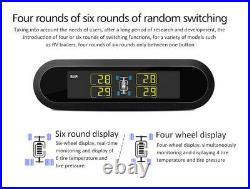6pc Internal Sensors Wireless TPMS Real-time Car Tyre Pressure Monitoring System