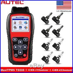 Autel MaxiTPMS TS508K TPMS Read Tire Pressure Sensor 433+315MHz Mx-Sensors US