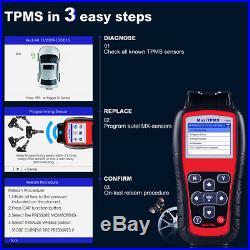 Autel TS508K TPMS Service Tools 8pcs 433mhz Sensors Tire Pressure Sensor Scanner