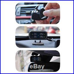 Auto Car Cigarette Lighter TPMS Tire Pressure Monitor System+4 External Sensors