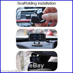 Auto Car Cigarette Lighter TPMS Tire Pressure Monitor System+4 Internal Sensors
