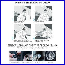 Auto Car Wireless RV TPMS Tire Pressure Monitoring System + 6 Sensor LCD Display