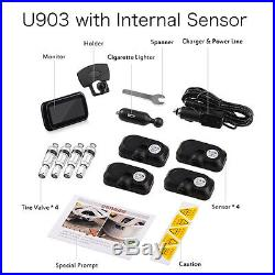 Auto Car Wireless TPMS Tire Tyre Pressure Monitoring System with 4 Sensors LCD