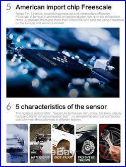 Auto TPMS Tire Pressure Monitor System+4 Internal Sensors Solar Power For Toyota