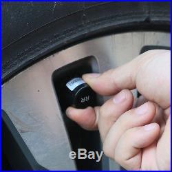 Auto Wireless Solar TPMS Tire Pressure Monitor System 4x Valve Cap Sensor 433MHZ
