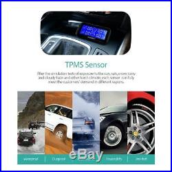 CACAGOO Wireless TPMS Tire Pressure Monitoring System with 4 Internal Sensors TMPS