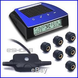 CARCHET Wireless RV Solar Tire Pressure Monitor System TPMS +6 External Sensor