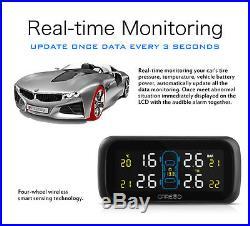 CAREUD U903 Car Wireless LCD TPMS Tire Pressure Monitor System with 4 NF Sensors