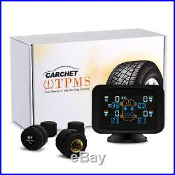 Car Auto TPMS Tire Pressure Monitoring System Wireless 4 Sensors LCD Display