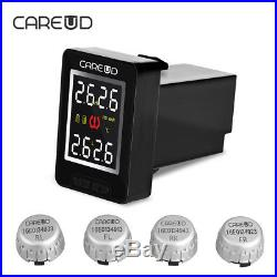 Car Auto TPMS Tire Pressure Monitoring System Wireless 4 Sensors LCD For Toyota