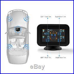 Car Auto TPMS Tire Pressure Monitoring System Wireless 4x Sensors LCD Display