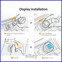 Car Auto Tire Pressure LCD Display Monitoring System Wireless 4 Sensors TPMS