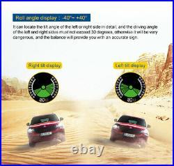 Car GPS Slope Meter Tilt Pitch Angle Speed KMH/MPH TPMS Tire Sensor Pressure 12V