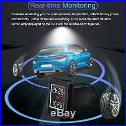 Car TPMS LCD Car Tire Pressure Monitoring System + 4 Internal Sensors for Honda
