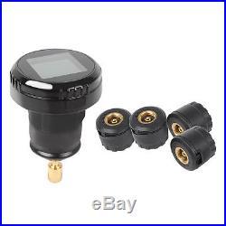 Car TPMS Tire Pressure Monitor System Cigarette Plug Display Wireless 4 Sensors