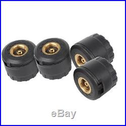 Car TPMS Tire Pressure Monitor System LED Display & External Wireless 4 Sensors