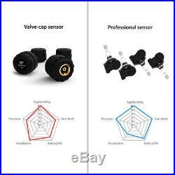 Carchet RV Car Solar TPMS Tire Pressure Monitor System 6 External Sensor LCD